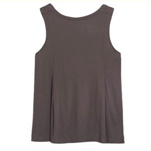 Madewell Brown Luster Cotton Swing Tank Top